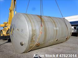 Used- Tank, Approximate 12,000 Gallon, 304 Stainless Steel, Horizontal.