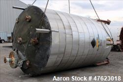 Used- Tank, 10,000 Gallon, 316 Stainless Steel, Vertical.