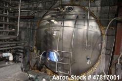 "6,000 Gallon Stainless Steel Insulated, Horizontal Storage Tank, 8'6"" X 15'"
