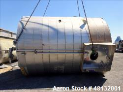 Used- Walker Stainless Equipment, 10,000 Gallon Vertical Tank.