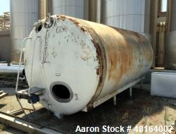 "Tank, 6,000 Gallon, Stainless Steel, Horizontal. Approximate 108"" diameter x 196"" straights side, d..."