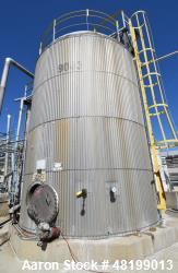 Used- Lowe-Mar 15,000 Gallon, Stainless Steel, Vertical Tank.