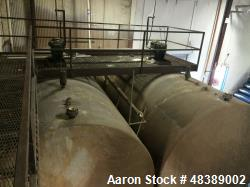 Indian Tank, Approximately 12,000 Gallon. Stainless steel.  10' diameter x 24' long. Horizontal. Dis...