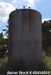 "Used- Gaston County Tank, 6,000 Gallon, Stainless steel. Vertical. Dish top and Flat bottom. 8' 6"" diameter x Approximately ..."