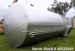 Feldmeier Tank, Approximately 22,000 Gallon, Stainless steel, Vertical, Double wall.