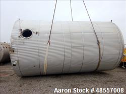 Used-Precision Tank & Eq. Tank, Approximately 10,000 Gallon.  Stainless steel, 12' diameter x 20' straight side. Flat Top an...
