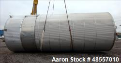 Used- Tank, Approximately 25,000 Gallon, 304 Stainless Steel, Vertical.