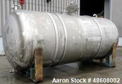 Used- Curtis Kelly Metal Fab. Tank, Approximate 5,500 Gallon, 316 Stainless Stee