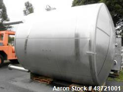 Used-Tank, 6,000 Gallon, Stainless steel, Vertical.
