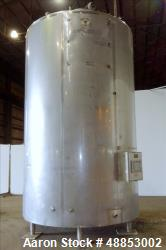 Used- Walker Jacketed Tank. 6000 Gallon, Vertical 304 Stainless Steel.