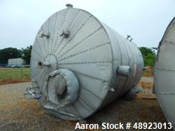 "Used-Tank, Clean Harbor, Approximately 8,225 Gallon. 304L Stainless Steel, Vertical.  Approximately 10 diameter. x 1414"" str..."