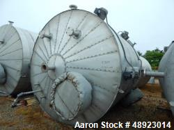 "Used-Tank, Clean Harbor, Approximately 5,235 Gallon. 304L Stainless Steel, Vertical.  Approximately 10' diameter. x 11'3""  s..."
