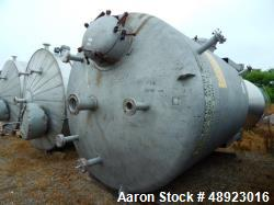 "Used-Tank, Clean Harbor, Approximately 5,200 Gallon. 316L Stainless Steel, Vertical.  Approximately 9'6"" diameter. x 10' str..."