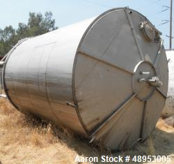 Used-12,000 Gal. SS Hold Tanks, 11 ft. Diameter x 16 ft. Deep