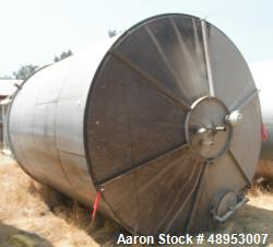 Tank, Approximate 12,000 Gallon, Stainless Steel tank, Vertical. Approximately 11' diameter x 16' s...