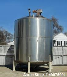 "Used- 6000 Gallon Vertical Tank. 304 stainless steel (product contact areas). 120"" diameter with 111"" straight side. Dished ..."