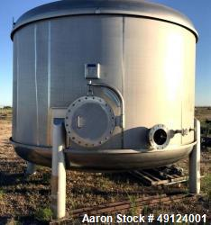 Used- CMC Letco Industries Tank, Approximately 9,000 Gallon, 316 Stainless Steel
