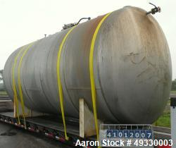 "Used-Clawson Tank Company Pressure Tank, 12,000 gallon, 304L stainless steel, horizontal. 125-1/2"" diameter x 222"" straight ..."