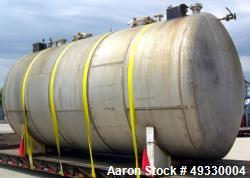 Used-Clawson Tank Company 2 Compartment Pressure Tank, 12,000 gallons total, 6,000 gallons per compartment, 304L stainless s...