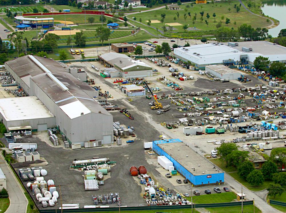 Aaron Equipment Aerial View