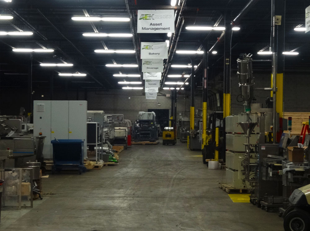 Climate Controlled Packaging Equipment Warehouse