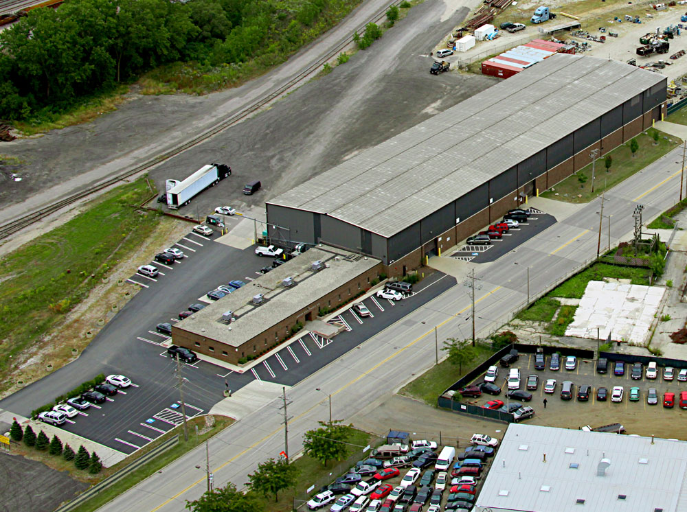 Aerial View of Aaron Equipment Shop