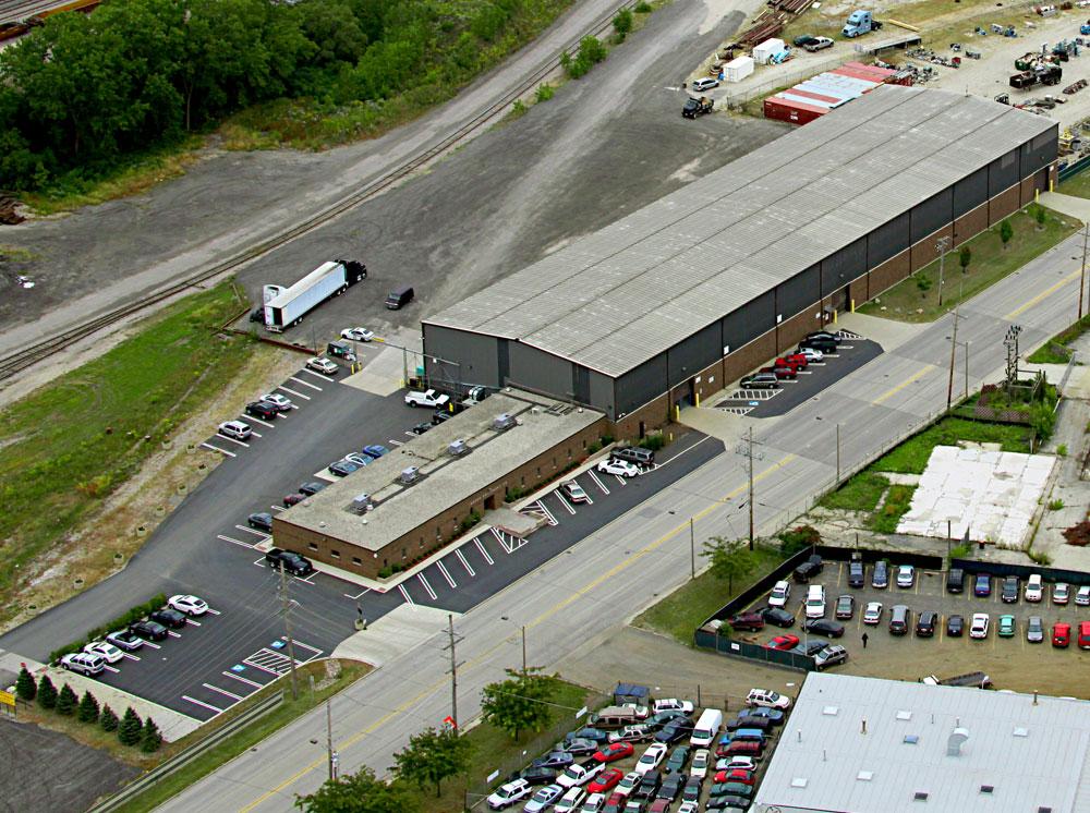Aerial View of Aaron Equipment Shop
